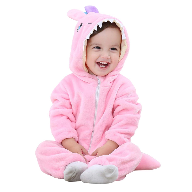 WSLCN Unisexe Bébé Grenouillères Combinaison Barboteuses Déguisement Manteau Capuche Mignon Costume de Enfants Stitch Pyjama Forme Animal JYTZ21/2