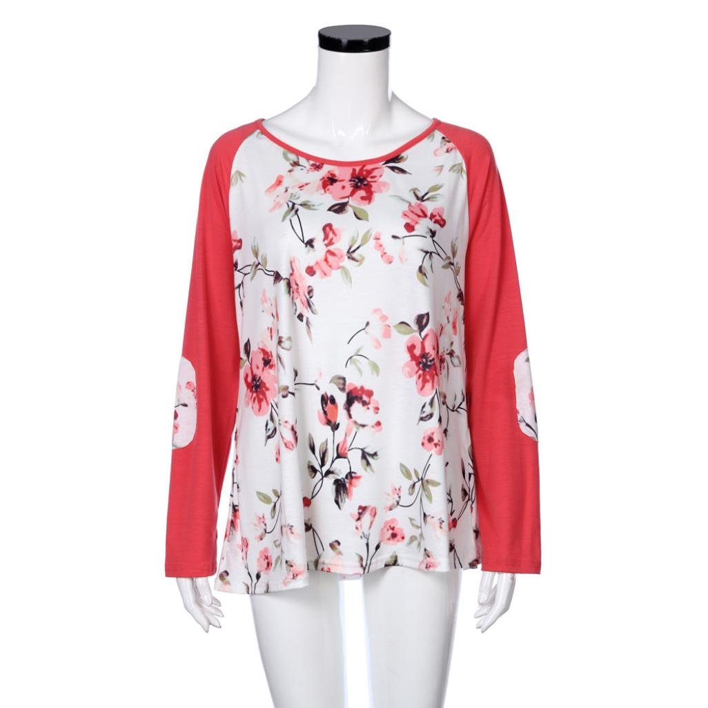 e3c2f3325437f Sannysis Plus Size Tops for Women Flower Print Cute Ladies Designer Blouses  L-4XL at Amazon Women s Clothing store