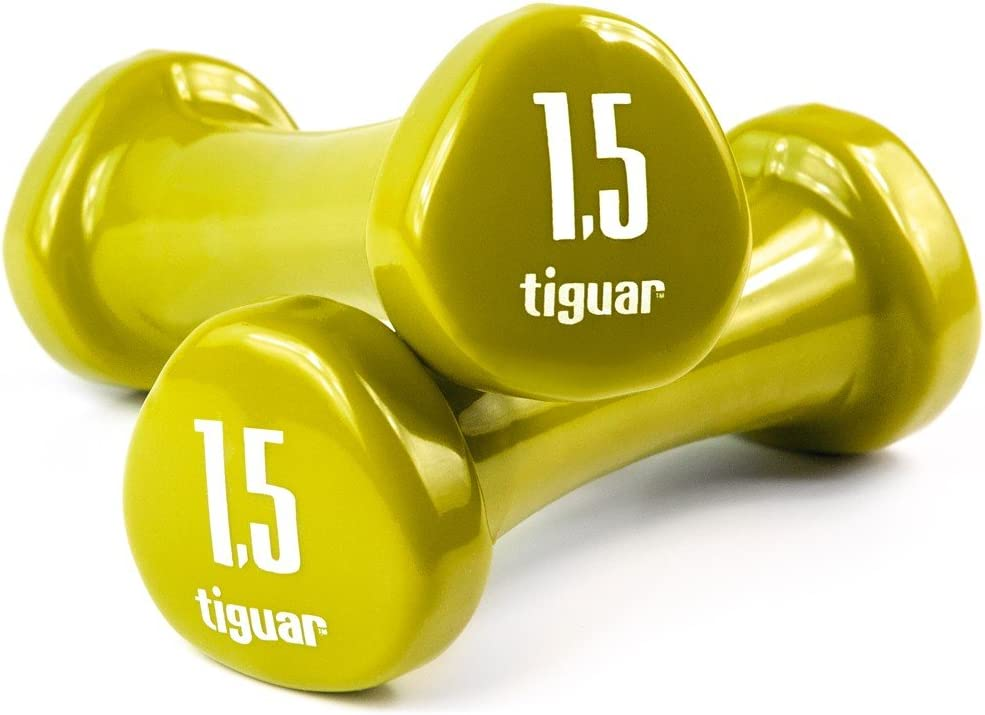 5 kg 1,5 kg 2 kg tiguar Dumbbells Kurzhantel Set Vinyl 4 kg 3 kg 1 kg Gewichte 0,5 kg