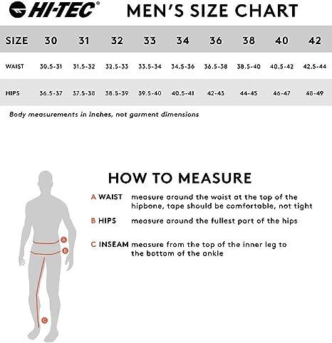 Size 36//30 Khaki Hi-Tec Mens Mohegan Performance Comfort Pant
