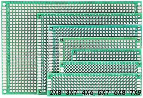 ZT-TTHG DIYに適した両面PCBプロトタイプサーキットボードパッケージ7つのサイズ、PCBボードはHASLグリーンオイルガラスユニバーサル基板スポットSteuermodulを両面