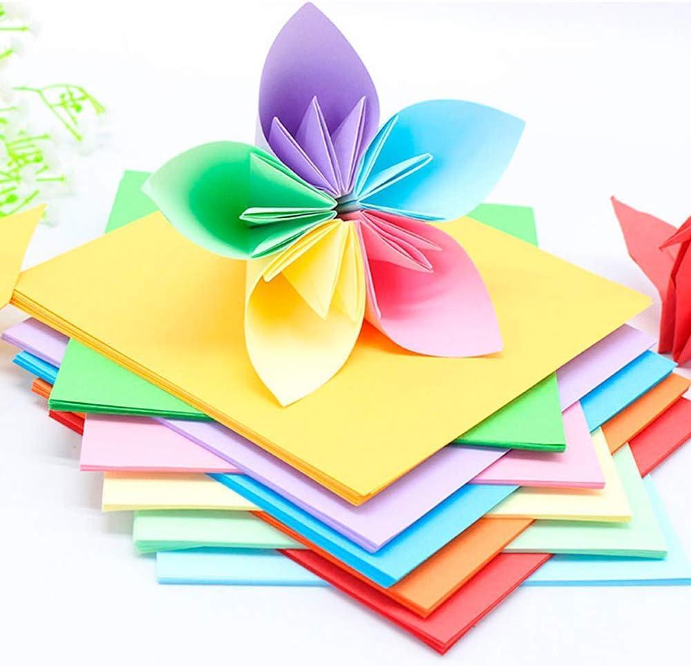 200 Bl/ätt Doppelseitiges Origami Papier DIY Handwerk Origami Papier,15X15cm Origami-Papier DIY Handwerk Papierkran f/ür Kunst und Handwerk Projekt Hileyu Origami Papier