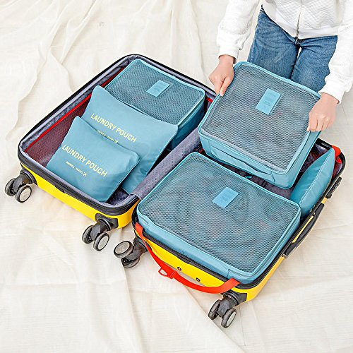 Amazon.com   Bazaar Honana HN-TB8 6Pcs Waterproof Travel Storage Bags  Packing Cube Clothes Pouch Luggage Organizer   Baby 377c99352c001