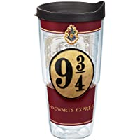 Tervis 1241059 Harry Potter - Platform Nine and Three-Quarters Insulated Tumbler with Wrap and Black Lid, 24 oz - Tritan…
