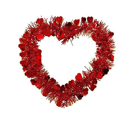 Haac Corazón Corazón Corona Lametten Con Corazones Color Rojo 22 Cm