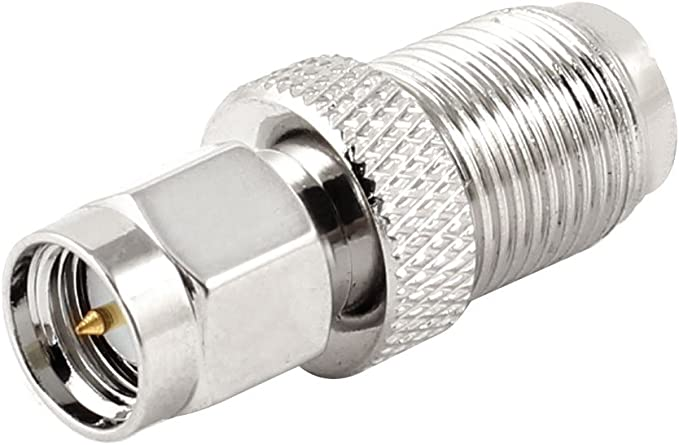 Uxcell F Type Female To Sma Male Plug Coaxial Adapter Connector Silver Tone Amazon Ca Electronics