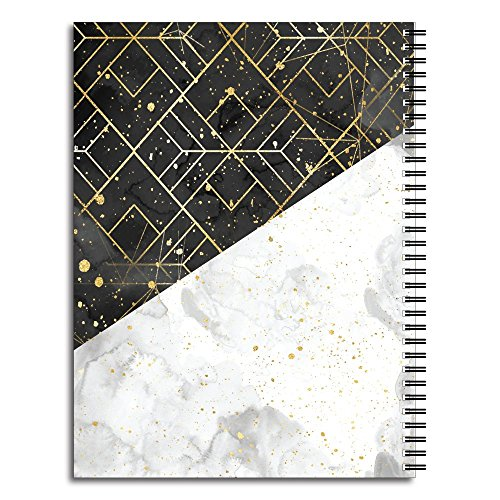 Elegant Marble Personalized Modern Spiral Notebook/Journal, 120 College Ruled or Checklist Pages, durable laminated cover, and wire-o spiral. 8.5x11 | 5.5x8.5 | Made in the USA Photo #4