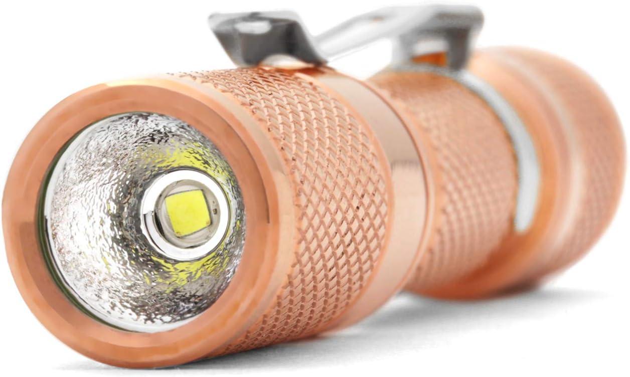 Drop AAA Copper - CREE CREE XP-G3 LED 3 Modes DROP AAA Copper Flashlight /— EDC Mini Pocket LED Torch IPX-8 Waterproof 1.5 oz 110 lumens