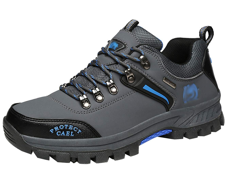 HhGold Männer Wanderschuhe Stiefel Leder Wanderschuhe Turnschuhe Für Outdoor Trekking Training Beiläufige Arbeit (Farbe : 25, Größe : 44EU)