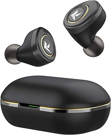KOSETON True Wireless Earbuds, aptX Stereo, Low Latency Bluetooth Earbuds, Wireless Noise Canceling Headphones with Charging Case, 36 Hours Playtime, Sweat-Resistant, Built-in Mic