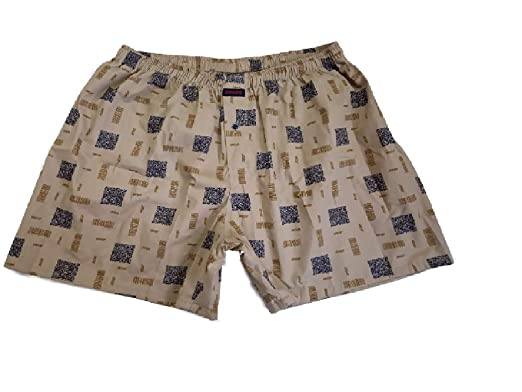 Black Paper Men's White Cotton Boxers (J10)