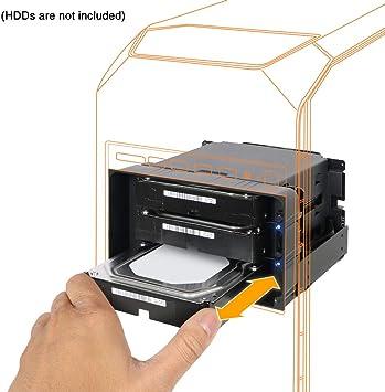 FlexiDOCK MB830SP-B - Caja de acoplamiento para disco duro SATA/SAS de 3,5 pulgadas (capacidad para 3 bahías, extraíble, 2 cables de 5,25 pulgadas): Amazon.es: Electrónica