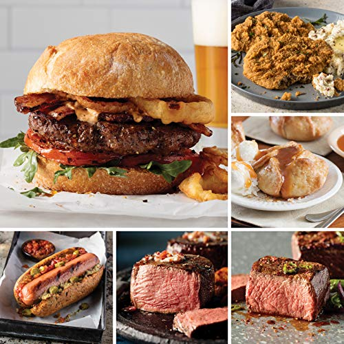 Omaha Steaks Premier Package (20-Piece with Filet Mignons, Top Sirloins, Steak Burgers, Jumbo Franks, Chicken-Fried Steaks and Individual Caramel Apple Tartlets)