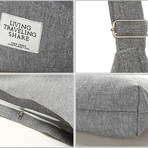 Fanspack Women's Canvas Hobo Handbags Simple Casual Top Handle Tote Bag Crossbody Shoulder Bag Shopping Work Bag by Fanspack (Image #4)