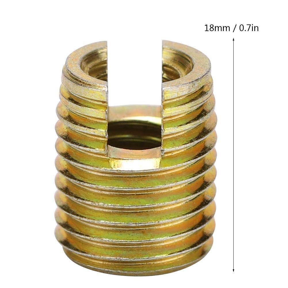 Inner M4*0.7 Outer M6.5 * 0.75 20Pcs 302 Kohlenstoffstahl selbstschneidende Gewindeeinsatzschraube Reparatursatz