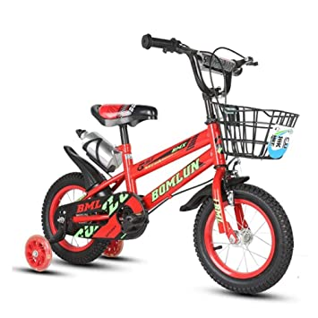 1-1 Niños Bicicleta Altura Ajustable Destello Ruedas de PU Bicicleta de montaña Doble Freno Niño Niña La Seguridad Mojadura 12 Pulgadas,Red: Amazon.es: ...