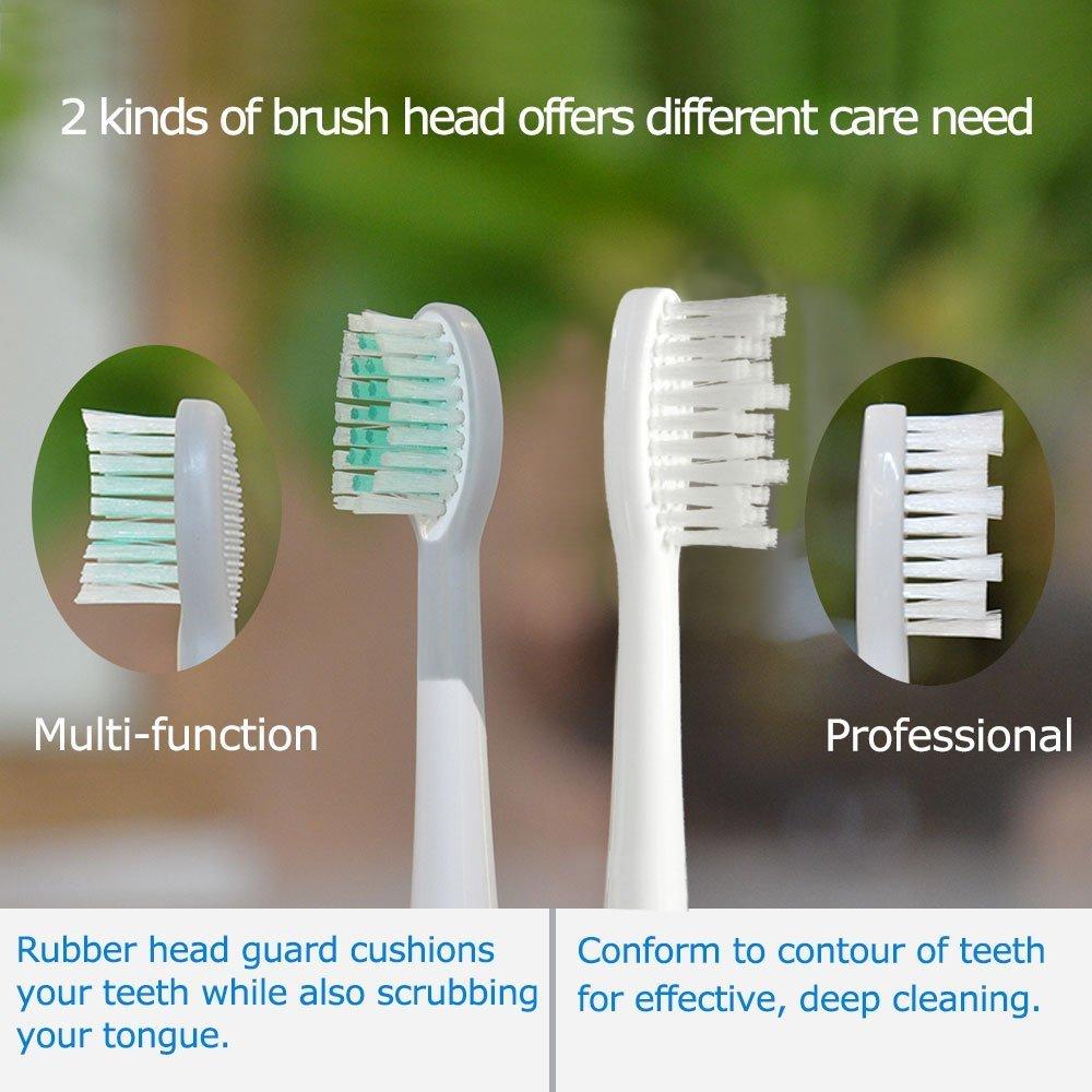 mornwell D90 Sonic cepillo de dientes cabeza, 3 cabezales con tapa por paquete,: Amazon.es: Hogar