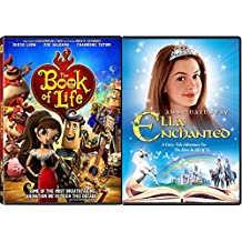 Magical Double Feature Ella Enchanted & Book of Life DVD Animated + Princess Set
