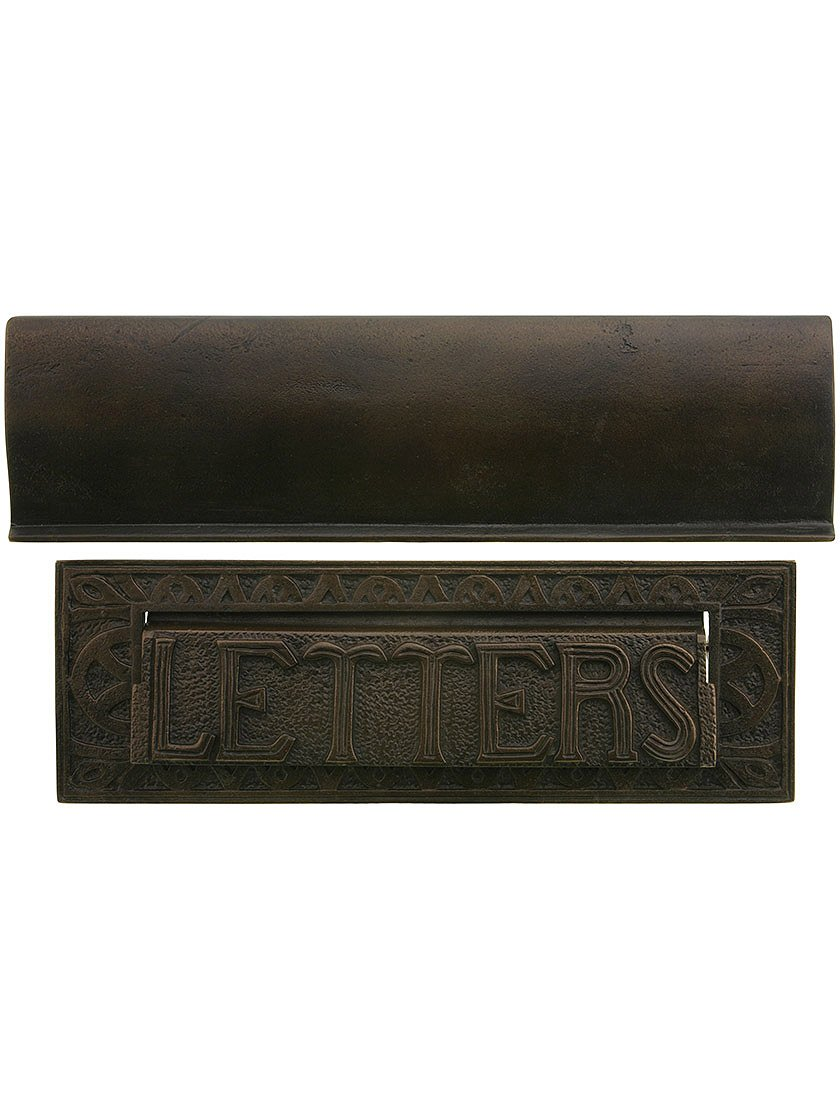 Letter Size Arts & Crafts Mail Slot In Solid Cast Bronze by Hamilton Decorative