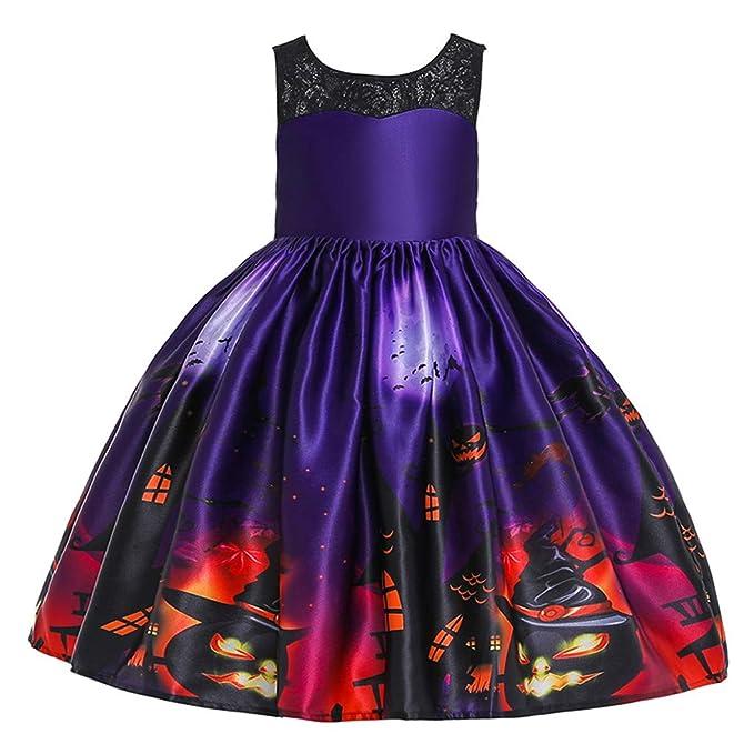 QinMMROPA Vestido de Princesa de Encaje de Halloween para ...