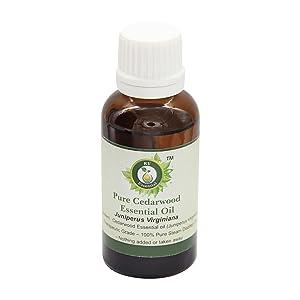 R V Essential Pure Cedarwood Essential Oil 30ml (1.01oz)- Juniperus Virginiana (100% Pure and Natural Therapeutic Grade)