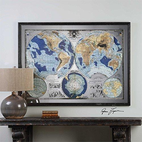 Uttermost 32538 Mirrored World Map - 55
