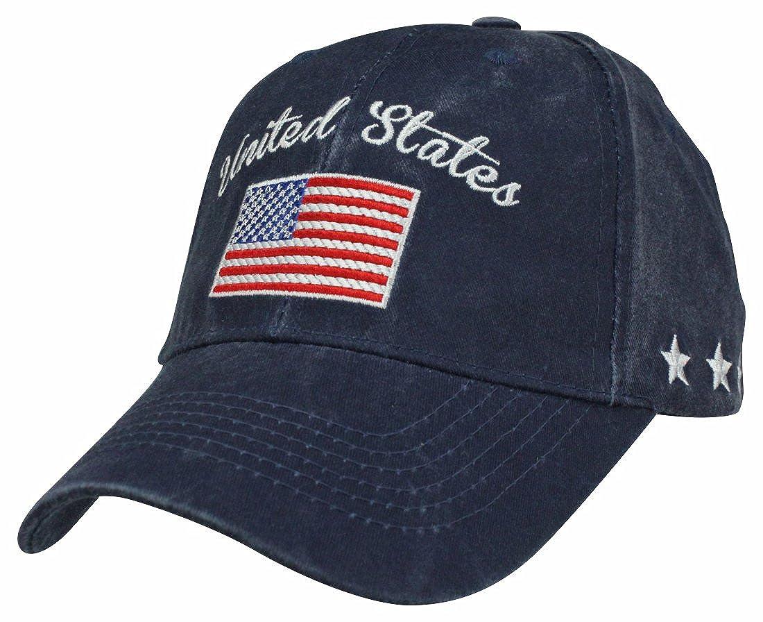 Amazon.com  Eagle Crest United States American Flag Navy Blue Ball Cap   Clothing a9a3ad4f28e