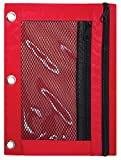 3 Ring Pencil Pouch, 12 Pack, with Mesh Window, 2
