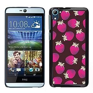 [Neutron-Star] Snap-on Series Teléfono Carcasa Funda Case Caso para HTC Desire D826 [Poly Art Strawberry Brown Purple Pattern]