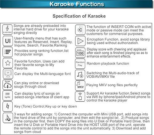 Pantalla táctil de escritorio todo en uno, reproductor de karaoke, descarga en nube gratuita 2000 G HDD 34 K Songs Cantonese+ Inglés Select canciones tanto ...