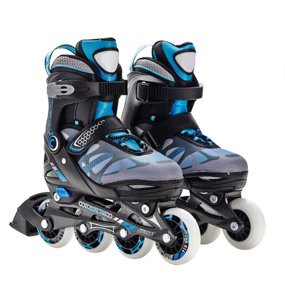 Optimal Kid's Adjustable Size Inline Skates Cool Rollerblade With Protective Gears Helmets Provided Safe Inline Roller Skates For Boys Girls Perfect Gift by Optimal Product