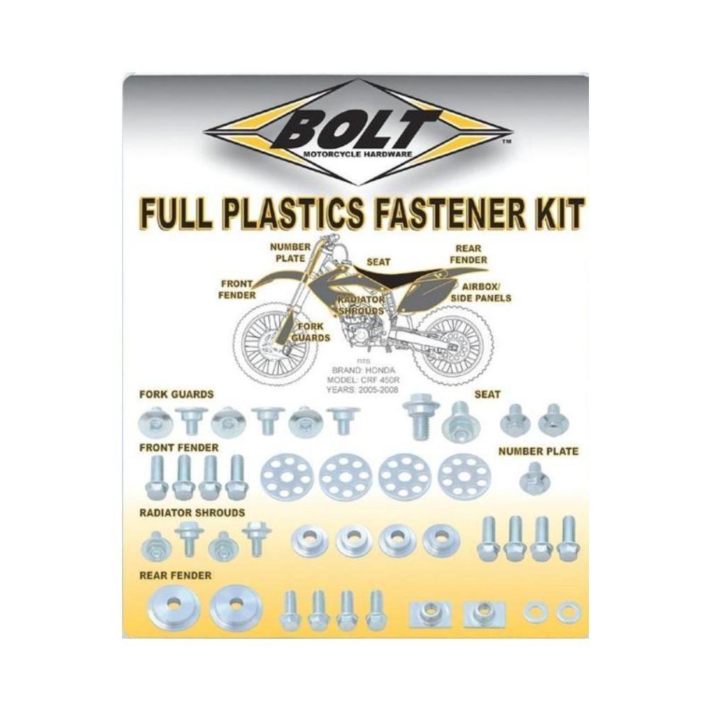 Bolt Full Plastic Fastner Hardware Kit for Yamaha YZ250F/450F 2006-2009 WRF 2007-2011