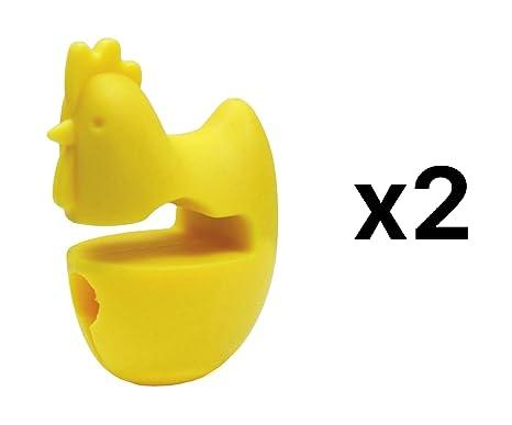Fox Run Pig Pot Clip Silicone Spoon Rest Ladle Spatula Pan Utensil Holder