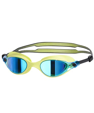 Speedo Vue Mirror AU V-Class Blend Swimming Goggle, Free Size Green Blue ee962d2d9387