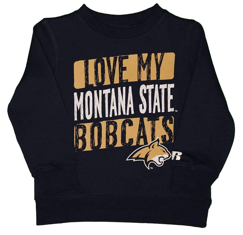 RussellApparel NCAA MSU Montana State University Love My Bobcats Toddlers Crew Neck Fleece