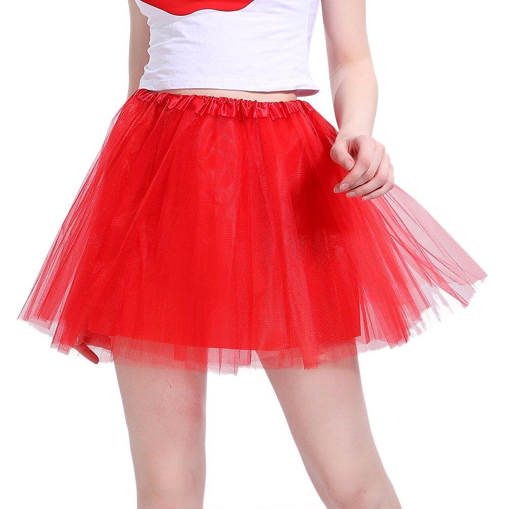 InnoBase 80s Adult Tutu Skirt Petticoat Fancy Dress 1980s Costume Accessories for Women Girl 8 Colors