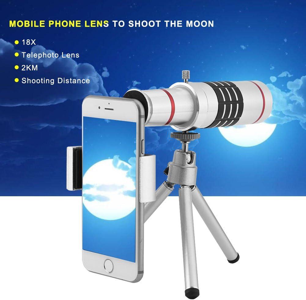 Lente telesc/ópica monocular para tel/éfono m/óvil con tr/ípode Flexible GOTOTOP
