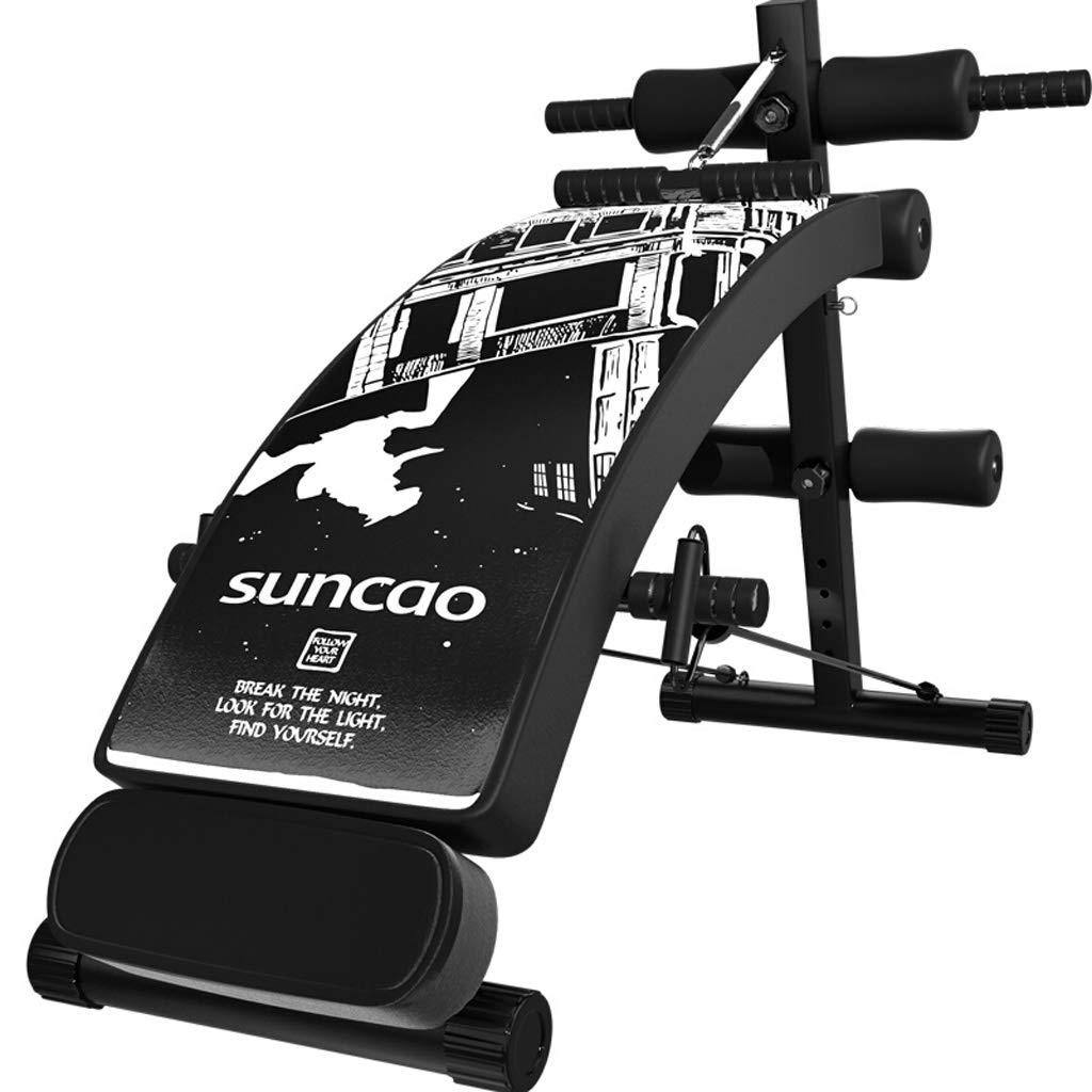 調節可能なウェイトベンチは、ベンチ腹部運動クランチボードを座ってブラックホームジムを使用して折りたたみフィットネス機器シットアップベンチ (色 : B)  B B07R9Y1C23