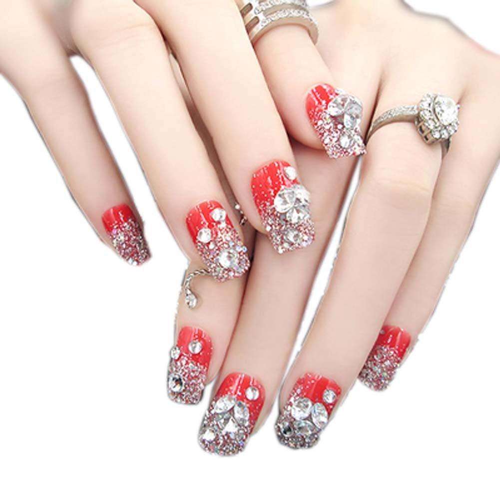 Amazon.com : Charming Wedding Bridal French Nails Fake Nail ...