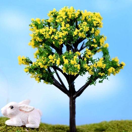 NIAN 9 Estilos Mini árbol de Hadas Decoraciones de jardín miniaturas Paisaje Resina artesanías Bonsai jardín terrario Accesorios, 5: Amazon.es: Hogar