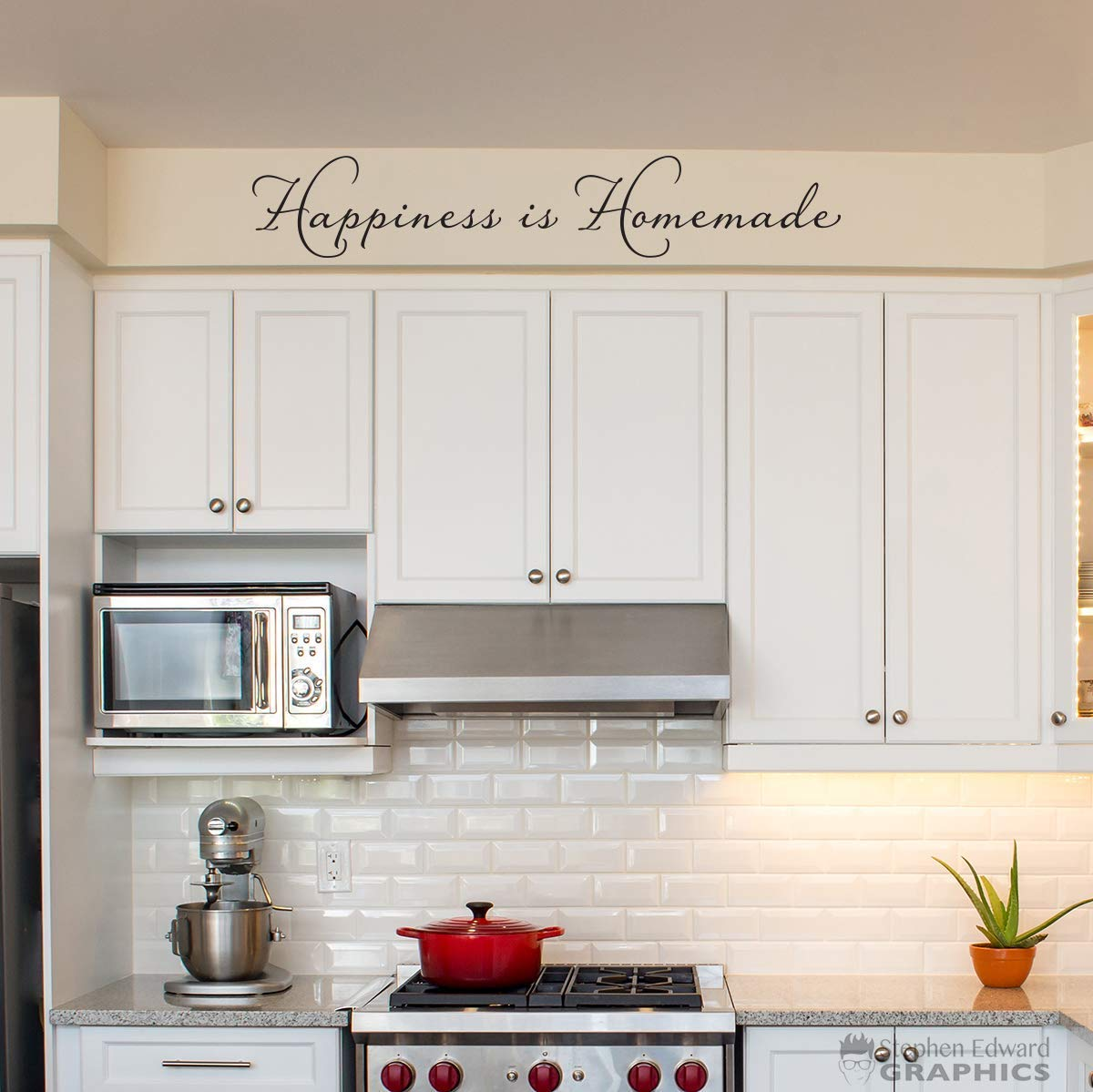 Amazon Com Happiness Is Homemade Wall Decal Kitchen Decor One Line Version Handmade