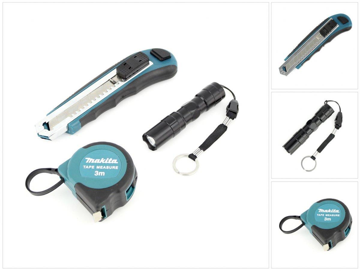 Makita insieme della taglierina + 3 m tape measure + Mini torcia elettrica
