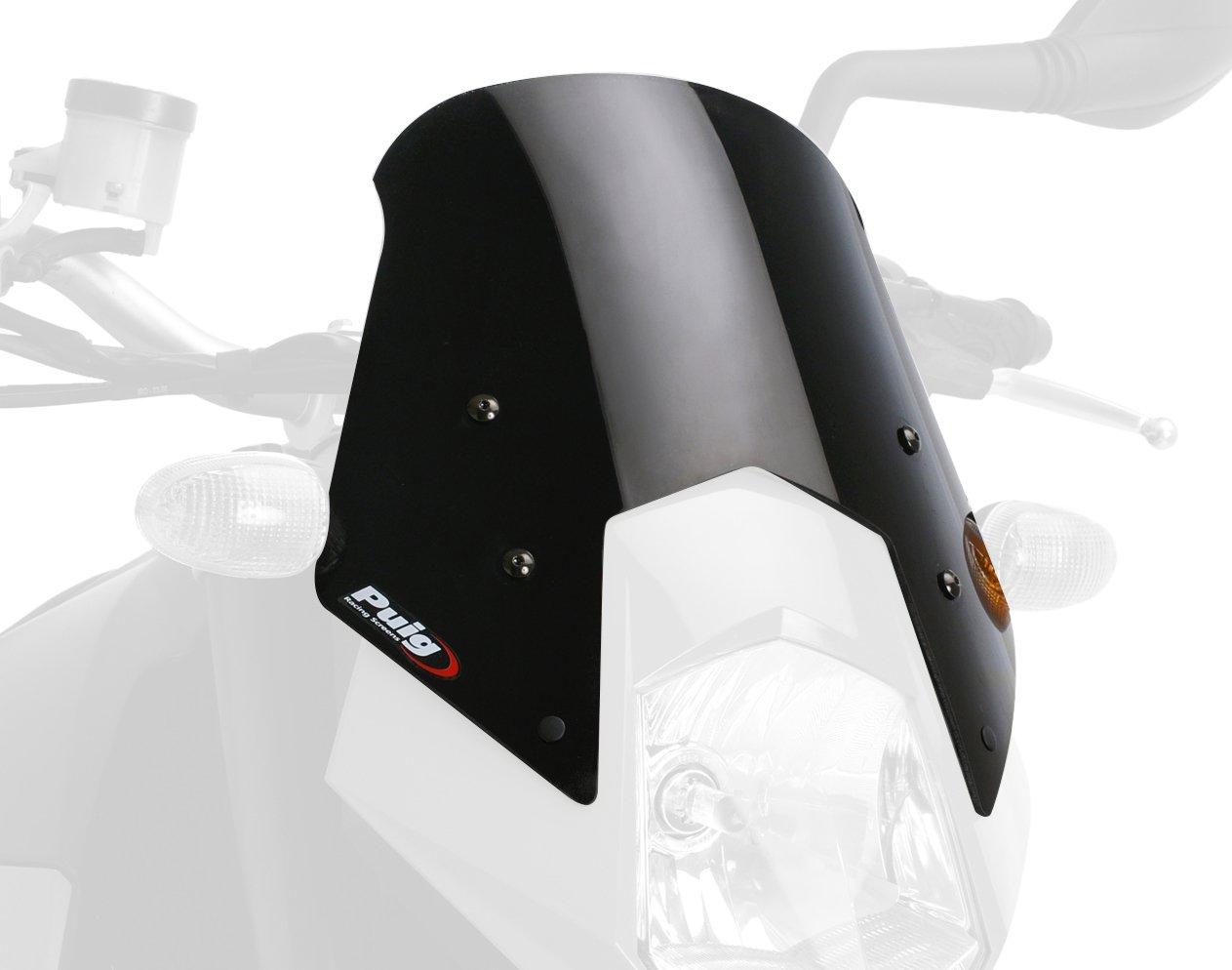 Windscreen Puig for KTM 950 Supermoto/Enduro black 5053N