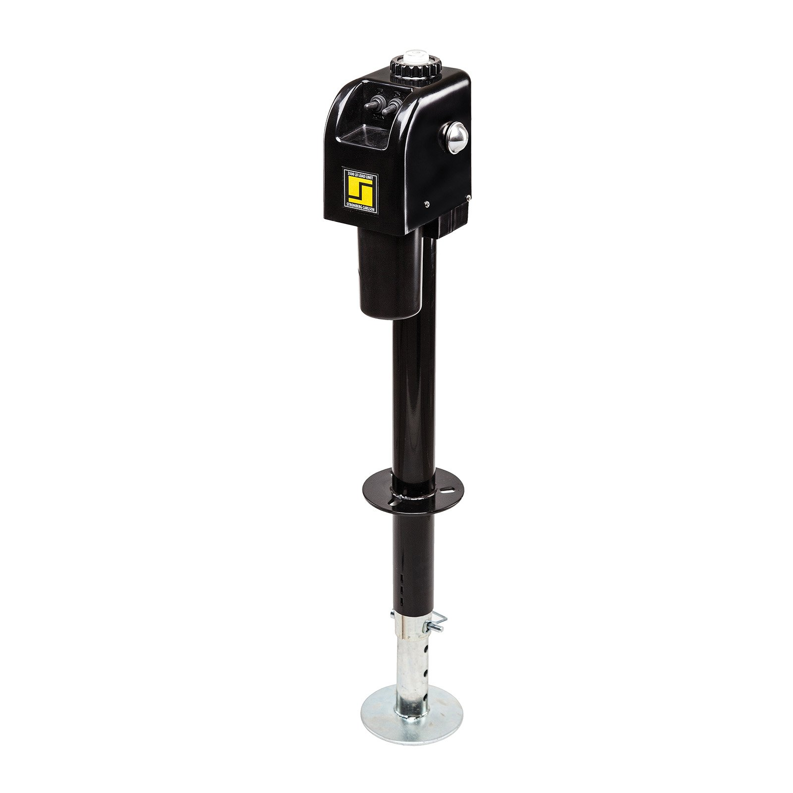 Stromberg Carlson JET-3755 Black 3500 lb. Electric Tongue Jack with Light by Stromberg Carlson