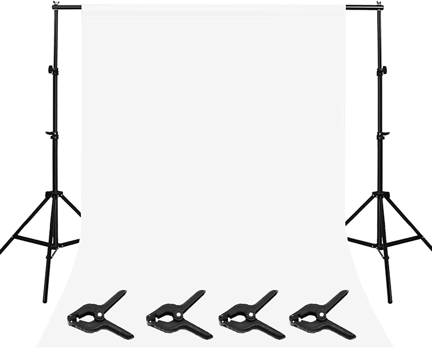 Photography Studio Background Support Stand White Screen Backdrop Photo Kit 1 X
