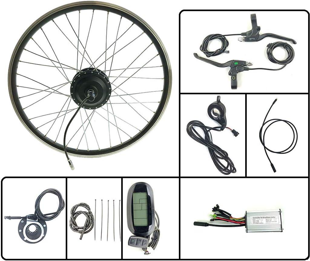 GJZhuan 250W 24V Bicicleta eléctrica E Moto Conversión Motor de la Rueda Hub Kit Frontal con KT LCD6 Display 16-28 Pulgadas 700C Kit E-Bici,28inch LCD Sets