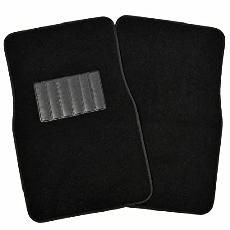 Amazon Black Synthetic Leather Car Seat Covers 4pc Carpet Floor Mats Auto Interior Accessories Pack Automotive