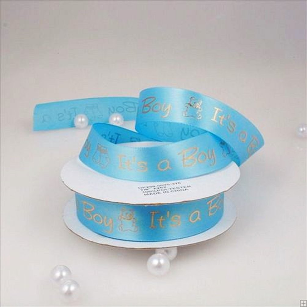 Baby Shower Printed Satin Ribbon Its a Girl /& Boy 3//8 to 7//8 25 Yard Roll /(3//8, Blue - Its a Boy/) by BFF Clothing Import BY01