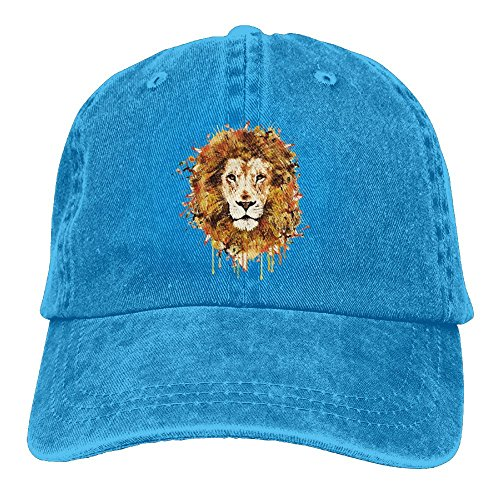 Watercolor Lion King Cowboy Baseball Caps For Womens Mens Trucker Style Hat