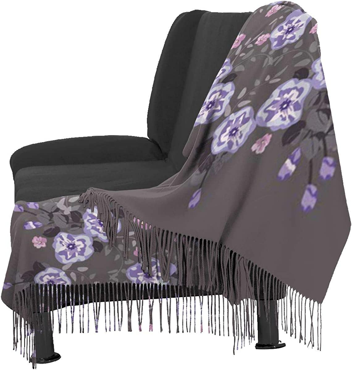 Cute Cuban Flower Composition Country Style Millefleurs Floral Garden Enchanting Scarf Decoupage Soft Cashmere Scarf For Women Fashion Lady Shawls,Comfortable Warm Winter Scarfs